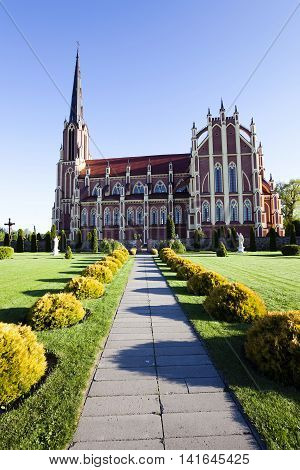 Catholic Church of the Holy Trinity, located in the village of Gervyaty. Belarus. Built 1899-1903 years