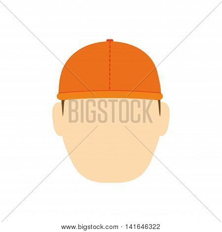 helmet man conctructer cartoon icon. Isolated and flat illustration. Vector graphic