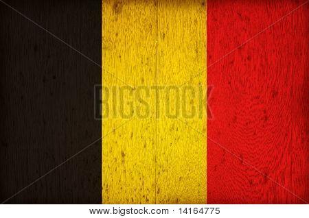 wood flag of belgium poster