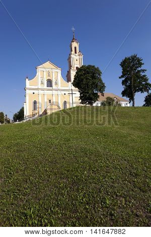 Catholic church of the Discovery of the Holy Cross and the Monastery of Bernardine. Grodno. Belarus. Construction years 1595-1618