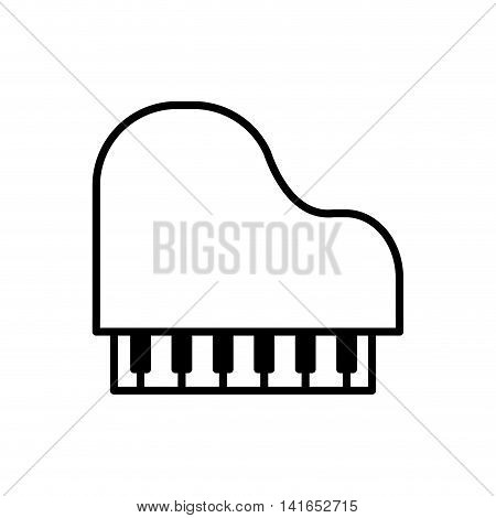 piano music melody sound icon. Isolated and flat illustration. Vector graphic