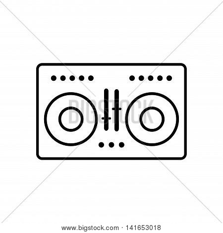 vinyl equalizer music melody sound icon. Isolated and flat illustration. Vector graphic