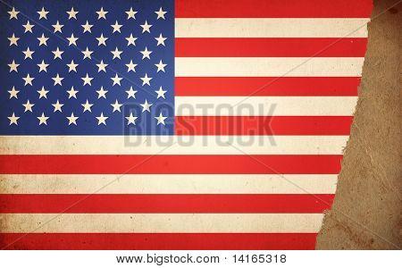 vintage flag of America poster
