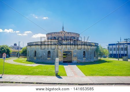 CURITIBA , BRAZIL - MAY 12, 2016: the paiol theater is a cultural place and auditorium for musical events.