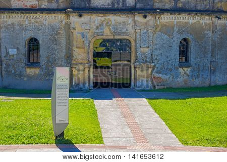 CURITIBA , BRAZIL - MAY 12, 2016: entrance of the paiol theater, builded in 1874 it was originally built as military fort.