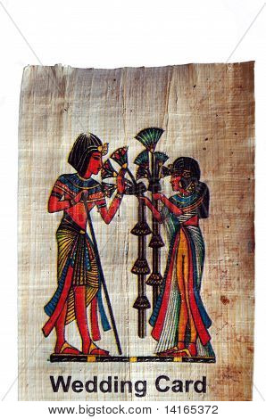 Papyrus with painted on it by Egyptian women poster