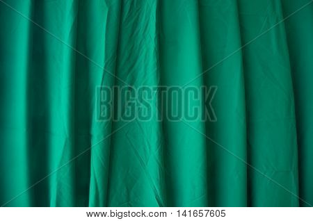Geen curtain of cinema stage background or backdrop