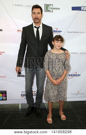 LOS ANGELES - AUG 6:  Dylan McDermott, Charlotte McDermott at the 4th Annual Ed Asner And Friends Poker Tournament For Autism Speaks at the South Park Center  on August 6, 2016 in Los Angeles, CA