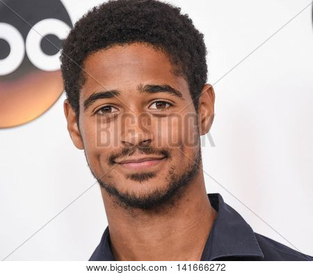 LOS ANGELES - AUG 04:  Alfred Enoch arrives to the ABC TCA Press Party 2016 on August 04, 2016 in Hollywood, CA