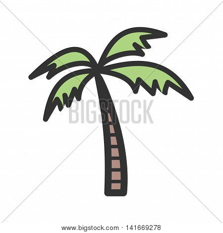 Tree, coconut, palm icon vector image. Can also be used for sea. Suitable for use on web apps, mobile apps and print media.