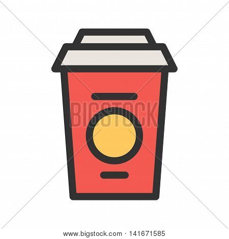 Coffee, cup, white icon vector image.Can also be used for hipster. Suitable for mobile apps, web apps and print media.