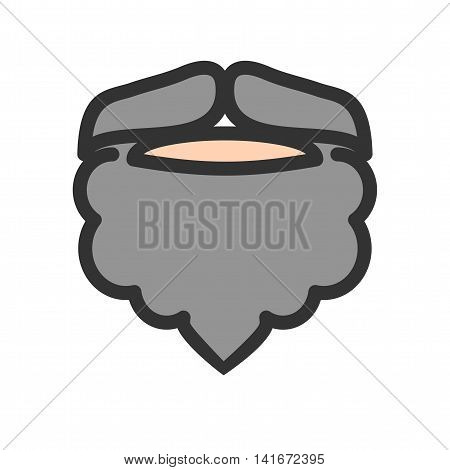 Beard, man, moustache icon vector image.Can also be used for hipster. Suitable for mobile apps, web apps and print media.