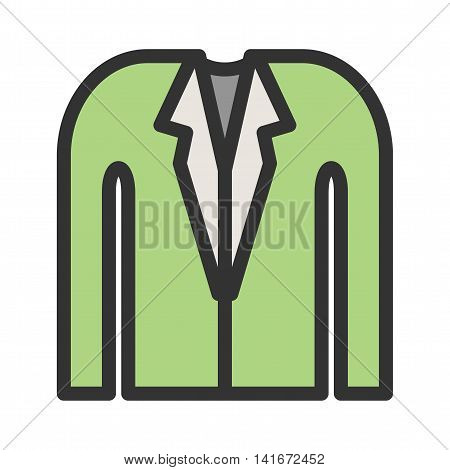 Suit, business, man icon vector image.Can also be used for hipster. Suitable for mobile apps, web apps and print media.