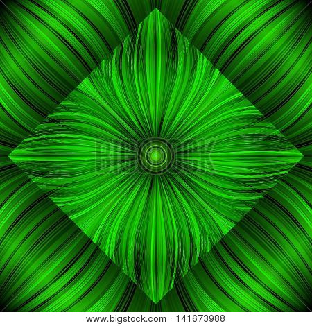 3d beautiful abstract background of glowing lines, stylized flowers