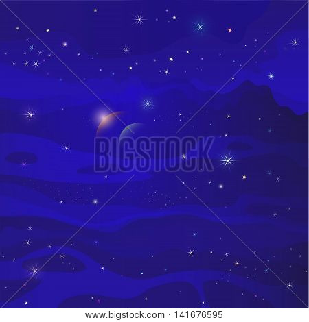 fantastic space star galaxy blue background  galaxy