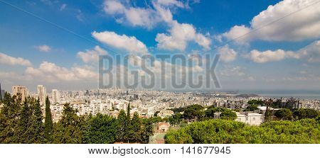 Beirut top view city lebanon middle east