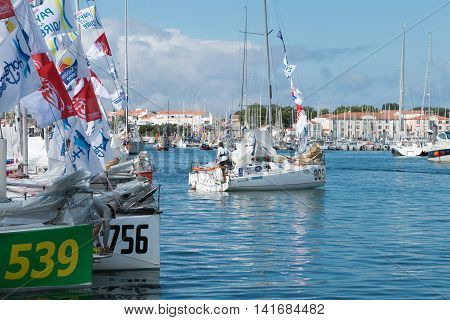Sailboats And Regatta Competitors