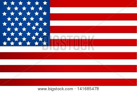 United State Of America flag isolated illustration