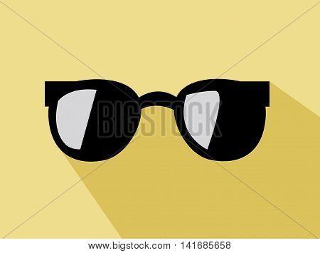 black trendy sunglas illustration art for summer