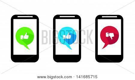 mobile icon vector illustration art on white