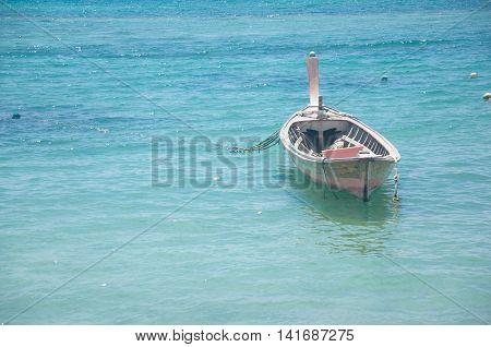 Fishing boats ashore Fishing boat at Thailand