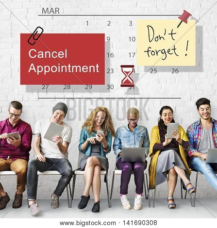 Cancel Appointment Note Calendar Planner Concept