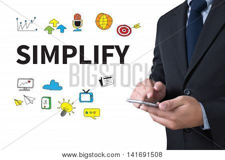 SIMPLIFY businessman working use smartphone man business  businessman vision work