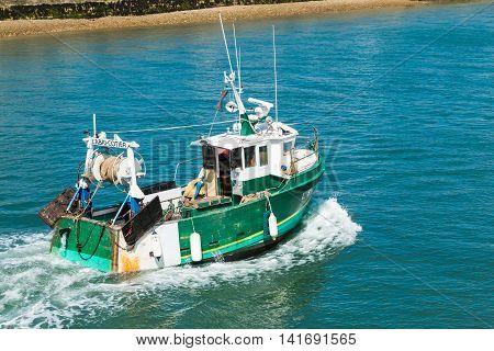 Fishing Boat Returns To Port