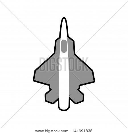 airplane grey travel transporation flying icon. Isolated and flat illustration. Vector graphic