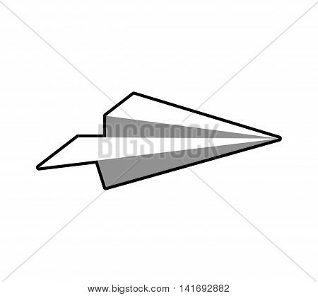 paperplane fly plane creative icon. Isolated and flat illustration. Vector graphic