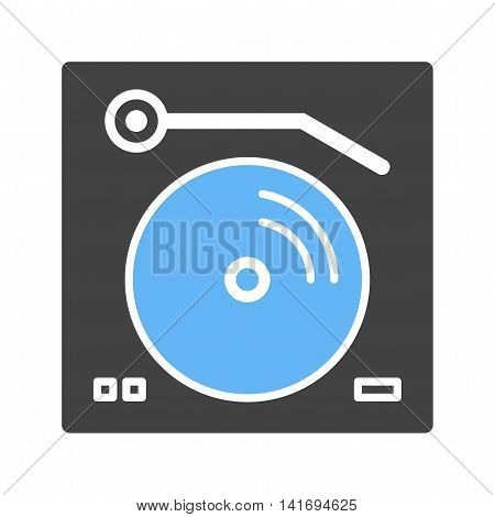 Turntables, record, music icon vector image.Can also be used for home. Suitable for mobile apps, web apps and print media.