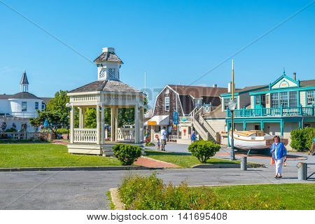 MONTAUK, LONG ISLAND, US, JUNE 18, 2016: Center of Montauk village