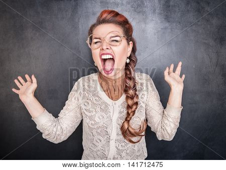 Crazy Screaming Woman