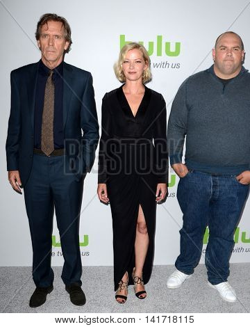 LOS ANGELES - AUG 5:  Hugh Laurie, Gretchen Mol, Ethan Suplee at the HULU TCA Summer 2016 Press Tour at the Beverly Hilton Hotel on August 5, 2016 in Beverly Hills, CA