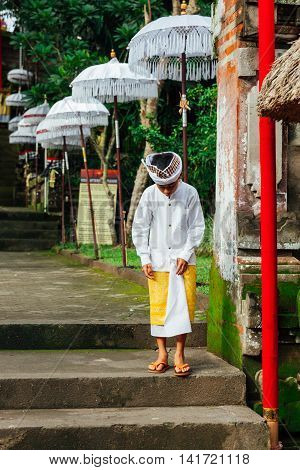 Boy In Traditional Balinese Clothes