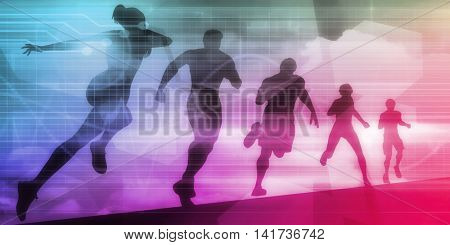 Sports Technology Background for Medical Science 3d Illustration Render