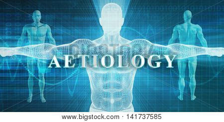Aetiology as a Medical Specialty Field or Department 3d Illustration Render