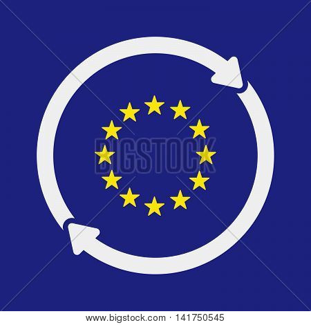 Isolated Reuse Icon With  The Eu Flag Stars