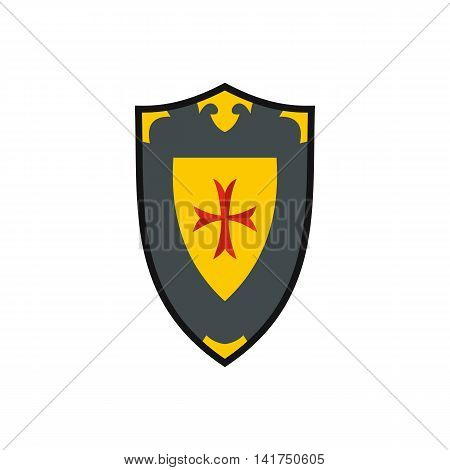 Heraldic shield icon in flat style on a white background