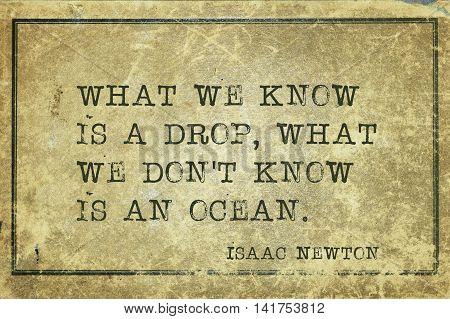 We Know Newton