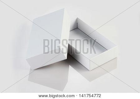 Blank White Card Board Box for Mockup