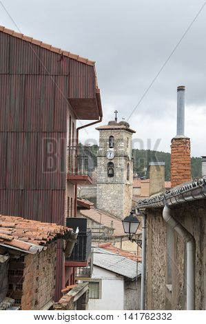 Belltower of San Leonardo de Yague in Soria