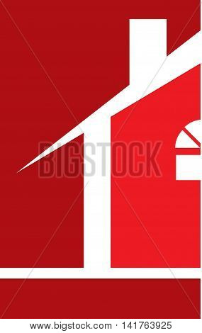 Professional Builder Realtor House Logo Template Red