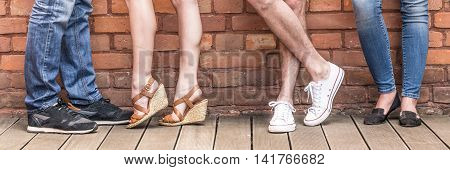 Legs Of Young People