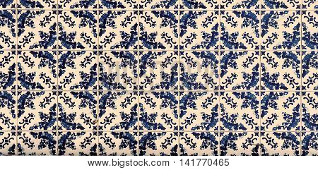 Highly detailed image of Azulejos traditional Portuguese tiles