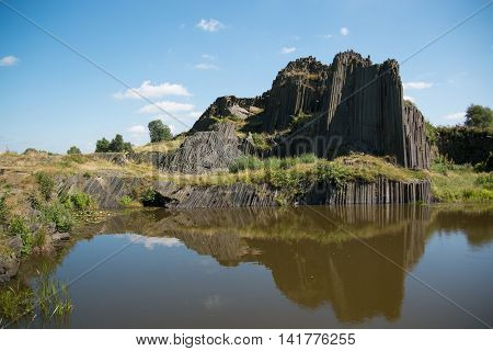 National Natural Monument of Panska Skala in the Czech Republic