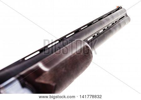 Shotgun Barrels On White
