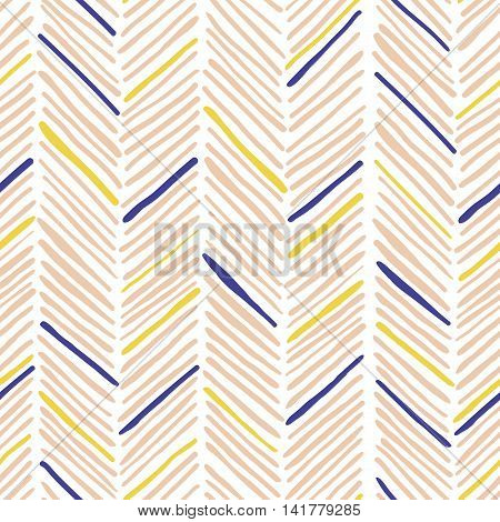Trendy simple seamless many zig zag pattern - vector Illustration