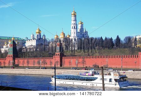 MOSCOW - MARCH 10, 2014: Moscow Kremlin. UNESCO World Heritage Site.