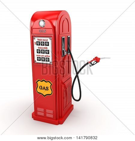 3D Rendering Gas Station